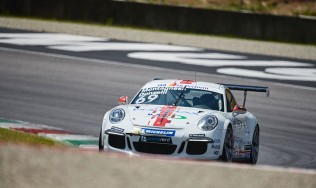 GDL Racing's rookie Risto Vukov claims two top 10 finishes in the Carrera Cup Italia opener at Mugello